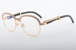 40d560e89b72bf 2019 beste brille 18 meistverkauften hochwertigen natürlichen Ochsen Winkel  runden Gläsern