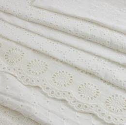 tela bordada de terciopelo rojo Rebajas SICODA 2meteExquisite Encaje 100% algodón recorte bordado hecho a mano tela fina diy para niña vestido bordado camisa haciendo