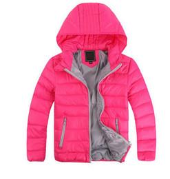 giacche casual ragazze Sconti 2018 Capispalla per bambini Ragazzo e ragazza Inverno caldo Cappotto con cappuccio Bambini Piumino imbottito in cotone Giacche per bambini 3-10 anni