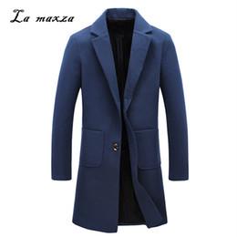aa4961b6921 Plus Size 2018 Smart Casual Winter Mens Coats Overcoats Fashion Wool Dress  Coat New Arrivals
