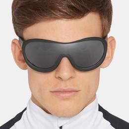 Корейские мужские солнцезащитные очки мода онлайн-Fashion Cool One Piece Sunglasses Men Driver Goggles Brand Designer Korean Oval Sun Glasses Female Summer Shade Fishing UV400