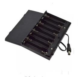 interruptor da caixa de bateria Desconto Brand New DIY 12 V 8x AA Caso Titular Da Bateria Portabe para 8 pcs Baterias Caso Caixa De Armazenamento Com Interruptor de Chumbo LLFA
