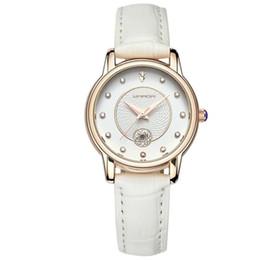 Wholesale Vintage Diamond Watches - Vintage Women Watch New Ribbon Calendar Fashionable Waterproof Leather Diamond Ladies Watch Christmas Gift Reloj Mujer XL60