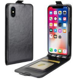 Pour iPhone X Up Down Étui à rabat en cuir + TPU Couverture arrière iPhone 10 Étuis à portefeuille avec fentes pour cartes de poche ? partir de fabricateur