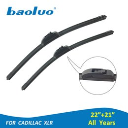"Wholesale auto cadillac - BAOLUO 2PCS Car Windshield Wiper Blades For Cadillac XLR 22""+21"" Soft Natural Rubber Windscreen Wipers Auto Accessories"