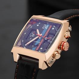 Cuoio automatico di lusso di lusso degli uomini online-2017 nuovo lusso moda in pelle di alta qualità orologio da polso automatico meccanico sport mens orologi da uomo