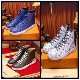 Wholesale checkered skate shoes - 2018 Brand New Men's Casual High Shoes Men's Luxury Designer High Top Skate Sneakers ,Breathable Casual Boots,Men Flats Shoes Size 38-44