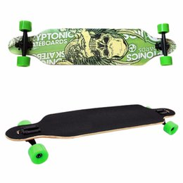 Tablero del cráneo online-Nuevo profesional Canadian Maple Skull Skateboard Road Longboard Skate Board Adult 4Wheels Downhill Street Long Board