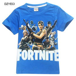 Wholesale Summer Shorts Teenagers - Summer Fortnite T-shirt For Teenager Boy Girl Tee Clothes Fashion Kid Cotton Tank Top Children Clothes Costume