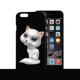 Wholesale 3d Christmas Iphone Case - 3D Stereo Dynamic Flash Pattern Case Dog Cat Reindeer Shockproof Back Cover Christmas Gift for iphone 8 7 6s 6 plus Opp Bag