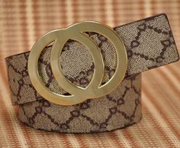 Wholesale Canvas Belt Blue - HOT Men fashion Top belt brand men's belts high quality business waist Belt gold large buckle V jeans cowboy cintos
