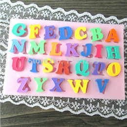 Wholesale Alphabet Silicone Mould - Wholesale- Charm Letter Alphabet Silicone Cake Mold Cake Fondant Baking Decor Mould Tool Special Price