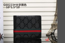 Wholesale new g3 - 2018 New Hot Brand Men Short Wallet Classic Fashion Male Patchwork Purse With Coin Pocket Card Holder with Box G3