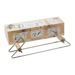 Braccialetti di telaio online-New Wood Weaving Beading Loom Set for Jewelry Braccialetti DIY Handmade Knitting Machine Giocattoli educativi per bambini