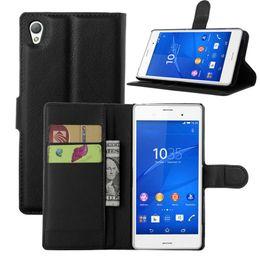 Telefone xperia z1 on-line-Luxo virar pu carteira de couro phone case para sony xperia z1 z2 z3 z4 z5 prémio z3compact mini case capa traseira
