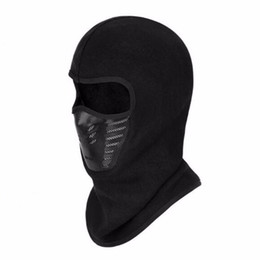 face mask fleece cover Promo Codes - Winter Men and Women Outdoor Riding Skiing Mask Face Cover Head Cap Warm Thickening Fleece Mask with Filtering Function New