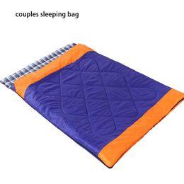 Съемный двойной спальный мешок «три в одном», расширяющий и утолщающий для путешествий дома и на улице Спальный мешок для двоих от Поставщики весенний рюкзак