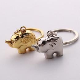 keychain do elefante do ouro Desconto 1 pcs Moda Estilo Bonito Pet Chaveiro Elefante Chave Anéis de Prata E Cor do Ouro Presente venda Quente portachiavi donna