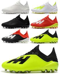 b40b124babb63 Envío gratis 2018 Nuevo estilo de zapatos de fútbol para hombre X 18.1 AG  Bajo tobillo de fútbol Cleats Speedmesh X18.1 AG Messi Speed Mesh de fútbol  al ...