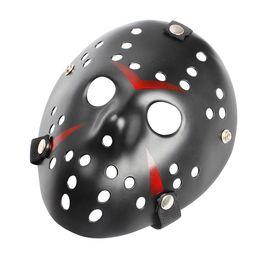 mascaras freddy vs jason Rebajas Jason adultos máscara de Halloween del asesino Festival de hockey del pirata informático del vestido de lujo de Cosplay del horror vS Prop para mujer para hombre Freddy Mascarilla de miedo