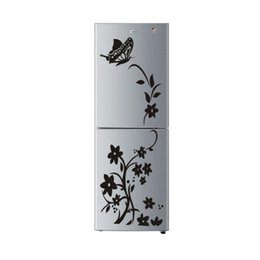 2019 flores borboleta parede murais Forma de flor de borboleta adesivos de parede diy casa decalques arte mural papel de parede adesivo preto para casa decorações de geladeira desconto flores borboleta parede murais