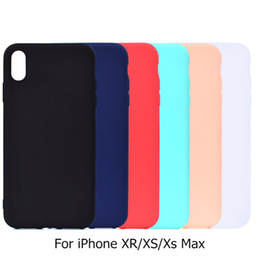 Caso xr iphone in forma sottile online-Custodia rigida in silicone morbido per iPhone XS Max XR Custodia rigida in silicone morbido per iPhone 10S XsMax 10R Case 6.1 6.5 ''