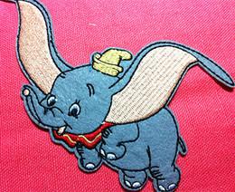 Canada En gros 10 pièces ~ Éléphant gris de dessin animé (10 x 6 cm) Applique brodé fer sur patch pour enfants Patch (TOUS) Offre
