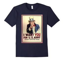 Camisa del ejército de la vendimia online-Tío Sam te quiero para US Army Vintage Poster T-shirt