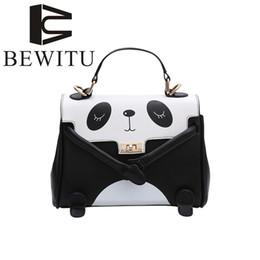 gato face ombro moda saco Desconto BEWITU Bonito Dos Desenhos Animados Marca Bolsa Das Senhoras 2018 Moda Super Fofo Grafite Sorte Gato Sorriso Rosto Paródia Saco Panda Bolsa de Ombro