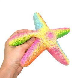 Wholesale Cheap Starfish - 20pcs-14cm squishy rare Colourful starfish slow rising cheap wholesale FREE SHIPPING