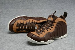 Wholesale polyester foams - Cheap Penny Hardaway Foam One Men Basketball Shoes Island Green DARK STUCCO FOAM Eggplant Red Copper Sport Shoes Athletic Sneaker shoe 7-11