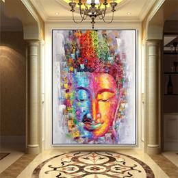 olio astratto buddha Sconti Buddha Tela Pittura Immagine di Arte Della Parete Della Decorazione Della Casa Dipinto a mano Astratta Moderna Pittura A Olio su Tela Dipinto Unframed Pittura