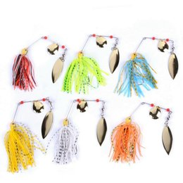 Wholesale water bass - Spinner Bait Bait Fishing Lure Spoon Fresh Water 6pcs set 16g 17g Shallow Water Bass Minnow Spinnerbait Lures Iscas Crank
