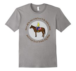 Wholesale Red Horse Riding - All I Want to Do Is Ride T-shirt for Horse Loving Girls