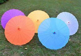 Wholesale Big Advertising - Free shipping Small & big Chinese colorful Umbrella China traditional dance color parasol Japanese silk props