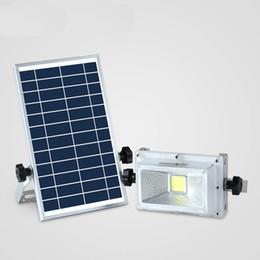Wholesale portable rechargable battery - LED Rechargable Portable Solar Flood Light 10W Camping Travel Emergency DC Solar lamp Panel Charging Lamp Outside