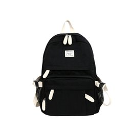 d7c5fd361535 2018 New Canvas Solid Backpack Women Fashion Knapsack Female Large Capacity Rucksack  Ladies High Quality Mochila Girls Schoolbag