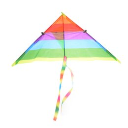 Wholesale Kite Stunt - Hot Rainbow Kite Long Tail Nylon Outdoor Toys For Children Kids Kites Stunt Kite Surf without Control Bar and Line Baby Toys