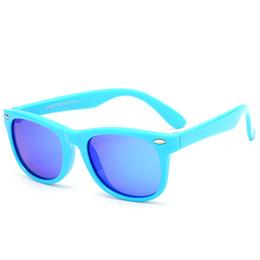 Gafas de sol flexibles online-AGEKUSL Marco flexible de silicona Polarizado para niños Gafas de sol Protección 100% UV Niño niña Gafas polarizadas Gafas ligeras