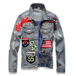 341ee19fd03 Mens Denim Jacket Plus Size Casual Bomber Jacket Men High Quality Man  Vintage Jean Jacket Hip-Hop forum Wearing patchwork Jackets For Men  discount jeans ...