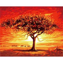 wüstenmalereien Rabatt DIY Bilder nach Zahlen Desert Evening Glow Bilder nach Zahlen mit Acryl auf Leinwand Modular wall paintings