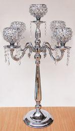 2019 kristallhalter für hochzeit Crystal Globe 5 Lichter Kandelaber Kerzenhalter Luxuriöse Herzstück für Hochzeit Dekoration Lieferungen rabatt kristallhalter für hochzeit
