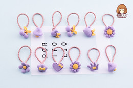 Wholesale Hair Designs For Girls - fashion flower cherry Hairband 12 pcs for a bottle girl cute mushroom crown design matting hair accessories exquisite Birthday Gift New