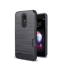игра галактики samsung Скидка Brush Hybrid Card Slot Hard PC TPU Case для LG Aristo 2 X210 Harmony 2 Moto Z3 Z3 Play G6 Play Samsung Galaxy J3 Достигните доспехи Телефонная обложка