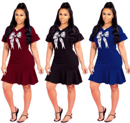 2682a9de89b vestidos de moda al por mayor Rebajas Mini vestido de verano de las mujeres  de moda