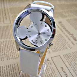 87ea89318af Moda relojes Relógios Dos Desenhos Animados Transparente Oco relógio de  quartzo das mulheres Dos Miúdos Das Crianças Cinta De Couro relógio de pulso  menina ...