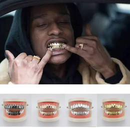 Hiphop Kupfer Teeth Schwarz Grillz Set Cosplay One Size Fits All Halloween Uhren & Schmuck