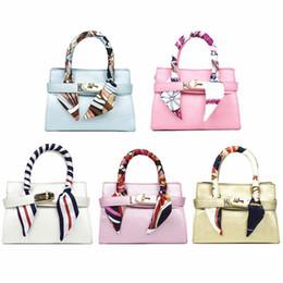 38201e352a04 Kids Handbag With Scarf 2018 Designer Baby Girl Shoulder Bags Fashion Children  Girls Messenger Bags Toddler Purses New Candy Color