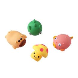 Wholesale play dinosaurs - Children Play Toys Four-piece Bath Toys Pinching Educational Toy Set (4 Sets): Cow + Mushroom + Fish Dinosaur