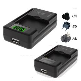 2019 li ион зарядное устройство Универсальный ЖК-экран USB AC телефон аккумулятор Li-Ion стены дома зарядное устройство док-станция для мобильного телефона STY027